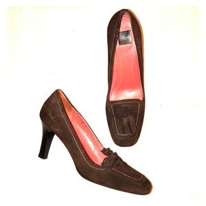 Coach Brown Suede Tassel Loafer Pumps Shoes 8B